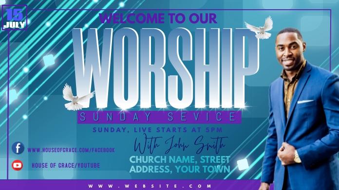 WORSHIP Publicación de Twitter template