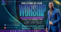 WORSHIP Facebook Event Cover template