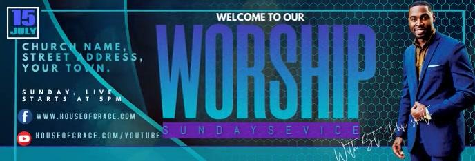 WORSHIP Banner de LinkedIn template