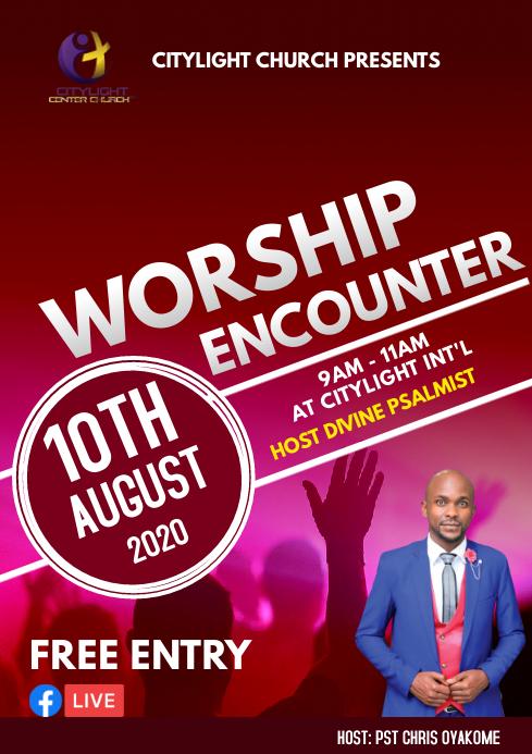 worship encounter A3 template