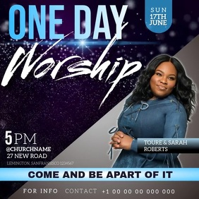 worship event AD social media TEMPLATE