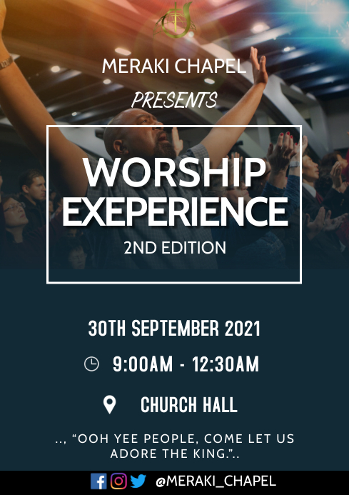 Worship experience A3 template