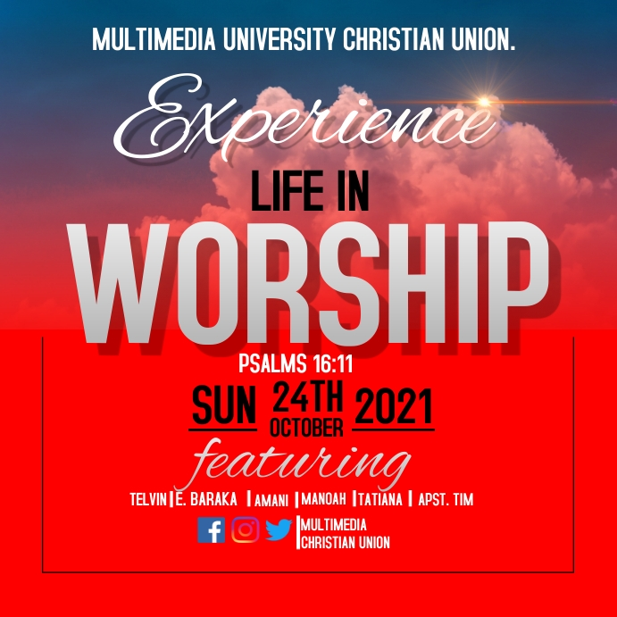 Worship Experience Instagram-opslag template
