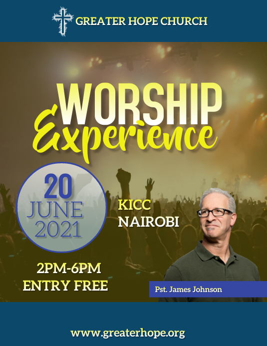 worship experience flyer Pamflet (Letter AS) template