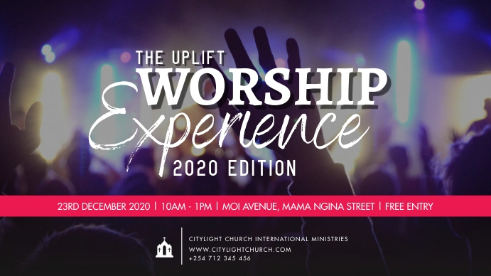 WORSHIP EXPERIENCE FLYER Twitch Banner template