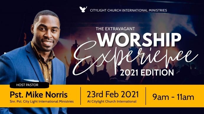 WORSHIP EXPERIENCE FLYER Digitale display (16:9) template