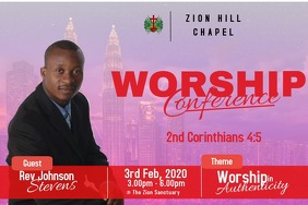 worship experience poster template