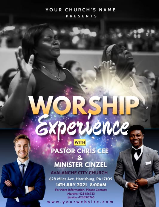 Worship Experience Sunday Service Video Ad 20 Folder (US Letter) template