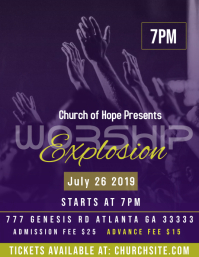 Worship Explosion Flyer (US Letter) template