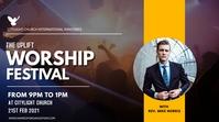 worship festival church flyer Affichage numérique (16:9) template