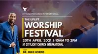 worship festival church flyer 数字显示屏 (16:9) template