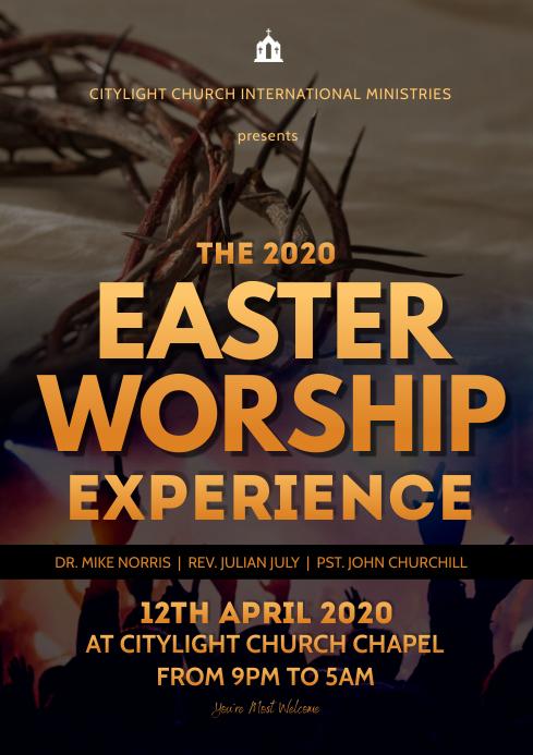 worship flyer A3 template