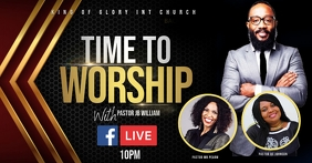 Worship flyer Facebook Shared Image template