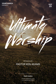 Worship Flyer Template Poster