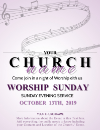 Worship Night Church Event Flyer Template