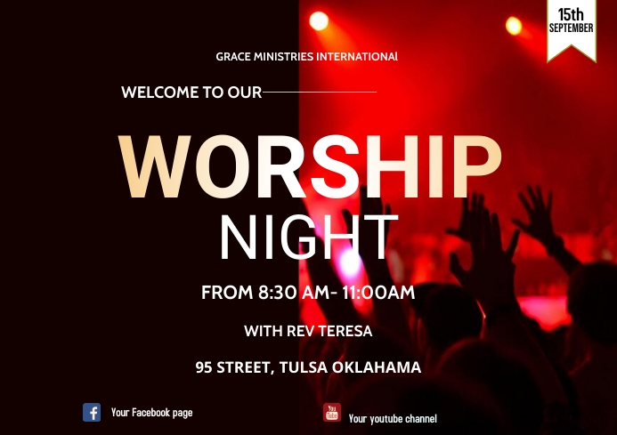 WORSHIP NIGHT A3 template