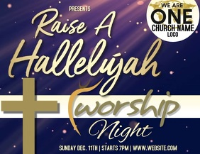 WORSHIP NIGHT TEMPLATE FLYER VIDEO
