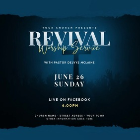 Worship Service - Church Flyer Video Template Message Instagram