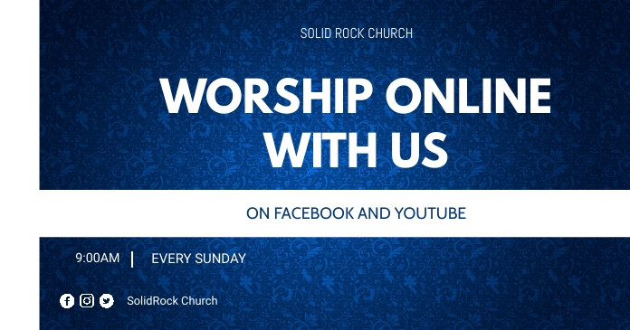 Worship service flyer Imagen Compartida en Facebook template
