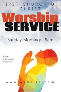 worship service poster