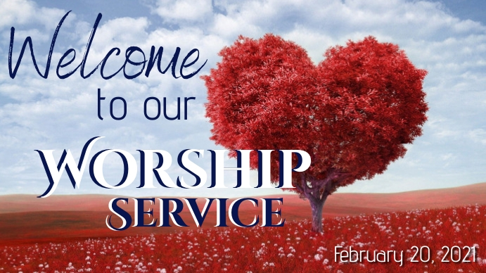 Worship Service_February YouTube Duimnael template