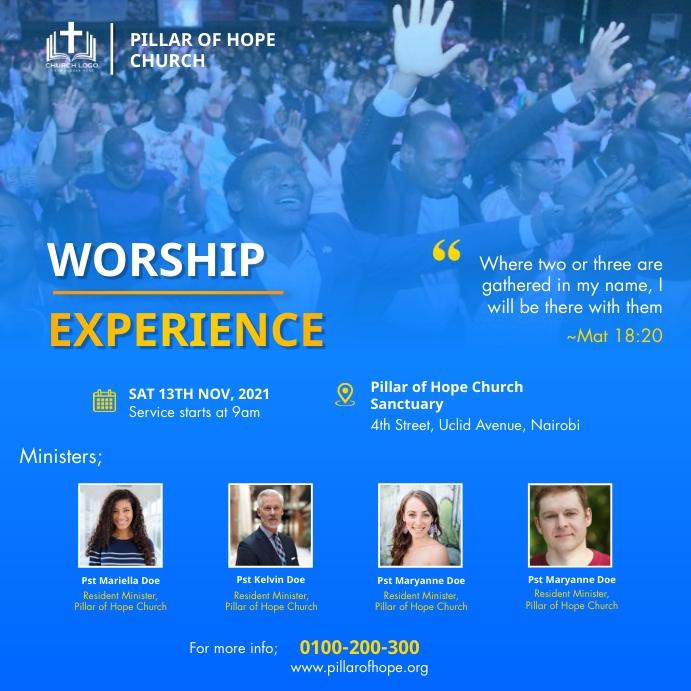Worship summit Message Instagram template