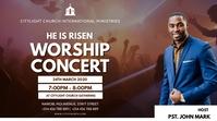 WORSHIP SUNDAY church flyer Digital Display (16:9) template