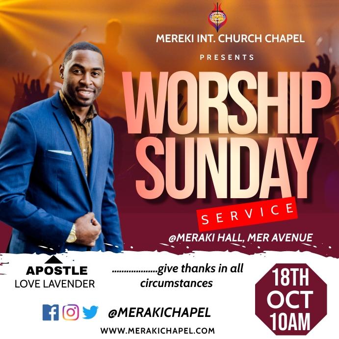 Worship Sunday Pos Instagram template
