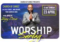 Worship sunday Carte postale template