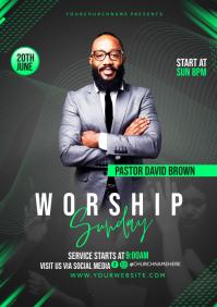 Worship Sunday A3 template