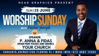 worship sunday flyer template Vídeo de portada de Facebook (16:9)