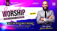 worship sunday flyer template Post di Twitter