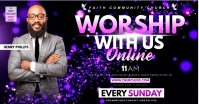 worship sunday flyer templateDesign Publicité Facebook