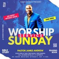 worship Sunday service template Album Cover