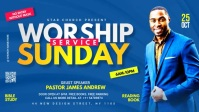 worship Sunday service template Facebook Cover Video (16:9)