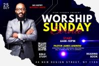 worship Sunday service template Etiket