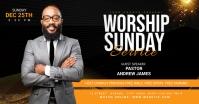 worship Sunday service template Publicité Facebook
