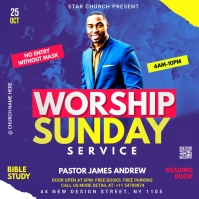 worship Sunday service template Pochette d'album