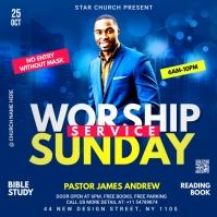 worship Sunday service template ปกอัลบั้ม