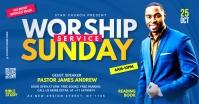 worship Sunday service template Facebook Ad