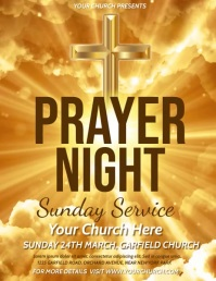 worship video, church, prayer, online service Flyer (US Letter) template