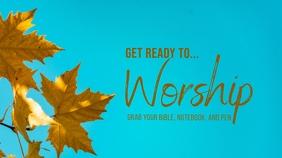 Worship Welcome Digital Display (16:9) template