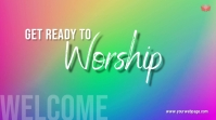 Worship Welcome Ecrã digital (16:9) template