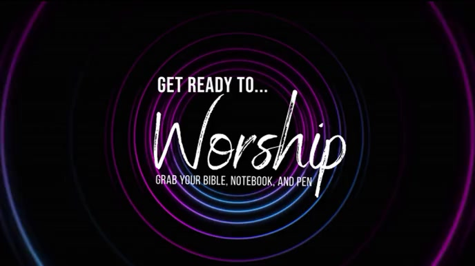 Worship Welcome 数字显示屏 (16:9) template