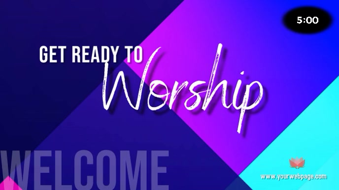 Worship Welcome Timer 数字显示屏 (16:9) template