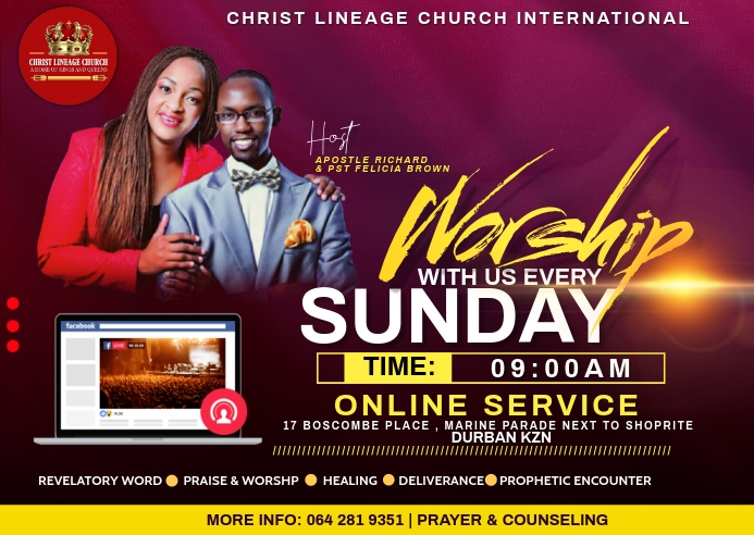 WORSHIP WITH US Postal template