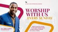 worship with us flyer design Umbukiso Wedijithali (16:9) template