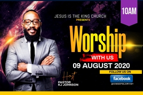WORSHIP WITH US FLYER