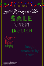 Wrap it Up Sale Poster Template