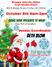 Wrappin with the oldies Craft Vendor Event